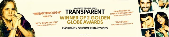 """Transparent's """"victory banner"""" displayed on Amazon.com after the Golden Globes"""