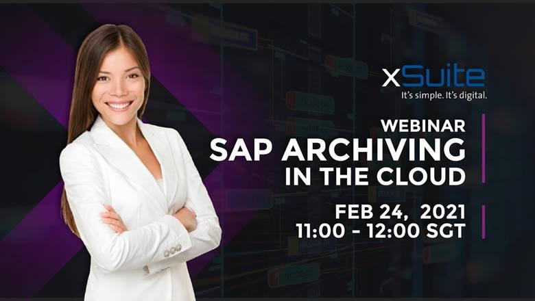 Webinar – SAP Archiving in the Cloud | 24 Feb 21