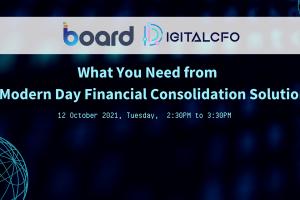 DigitalCFO Finance Transformation Webinar Series – Financial Consolidation | 12 Oct 2021