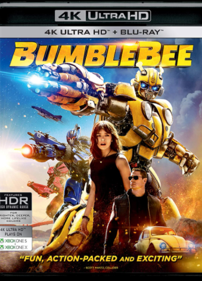 BUMBLEBEE TRANSFORMERS 4K UHD iTunes DIGITAL COPY MOVIE CODE ONLY (DIRECT INTO ITUNES) USA CANADA