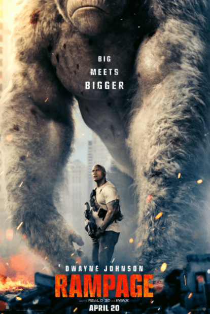 RAMPAGE HDX VUDU, HDX MOVIES ANYWHERE DIGITAL COPY MOVIE CODE (READ DESCRIPTION FOR REDEMPTION SITES) USA