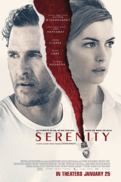 SERENITY (2019) HD iTunes DIGITAL COPY MOVIE CODE (DIRECT IN TO ITUNES) CANADA