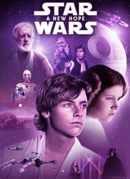 STAR WARS 4 A NEW HOPE DISNEY HD GOOGLE PLAY DIGITAL COPY MOVIE CODE (DIRECT INTO GOOGLE PLAY) CANADA