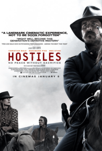HOSTILES HD iTunes DIGITAL COPY MOVIE CODE (DIRECT IN TO ITUNES) CANADA