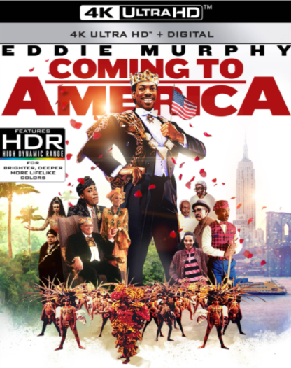 COMING TO AMERICA 4K UHD VUDU or 4K UHD iTunes (USA) / 4K UHD iTunes (CANADA) DIGITAL COPY MOVIE CODE (READ DESCRIPTION FOR REDEMPTION SITE)