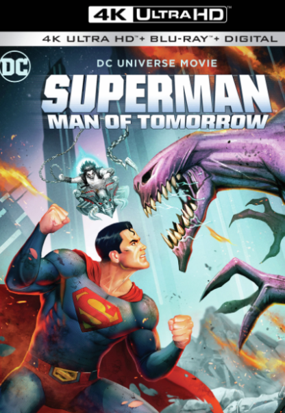 SUPERMAN MAN OF TOMORROW DC UNIVERSE 4K UHD MOVIES ANYWHERE (USA) / HD GOOGLE PLAY (CANADA) DIGITAL COPY MOVIE CODE (READ DESCRIPTION FOR REDEMPTION SITE)