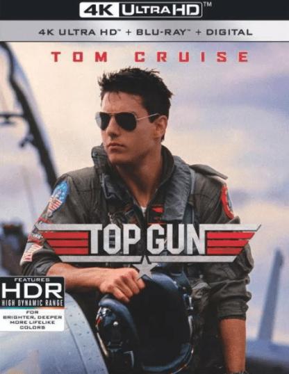 TOP GUN 4K UHD VUDU or 4K UHD iTunes (USA) / 4K UHD iTunes (CANADA) DIGITAL COPY MOVIE CODE (READ DESCRIPTION FOR REDEMPTION SITE)