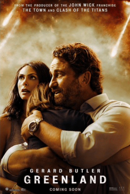 GREENLAND (2020) HD iTunes DIGITAL COPY MOVIE CODE (DIRECT IN TO ITUNES) USA