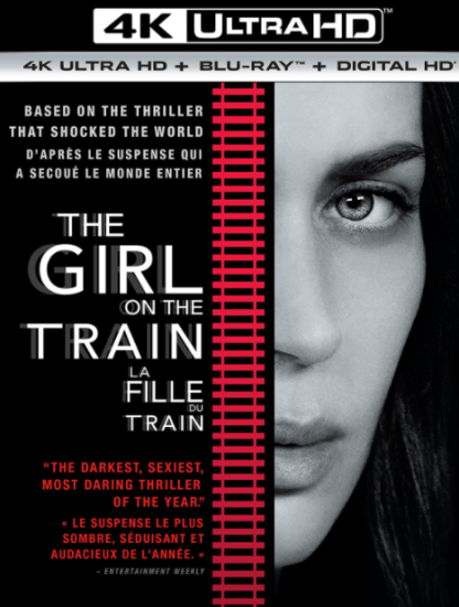 GIRL ON THE TRAIN 4K UHD iTunes DIGITAL COPY MOVIE CODE ONLY (DIRECT INTO ITUNES) USA CANADA