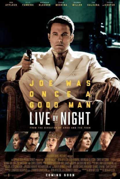 LIVE BY NIGHT HD GOOGLE PLAY DIGITAL COPY MOVIE CODE (DIRECT IN TO GOOGLE PLAY) CANADA