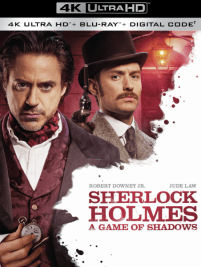 SHERLOCK HOLMES A GAME OF SHADOWS 4K UHD MOVIES ANYWHERE (USA) / 4K UHD GOOGLE PLAY (CANADA) DIGITAL COPY MOVIE CODE (READ DESCRIPTION FOR REDEMPTION SITES)