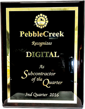 Robson PebbleCreek Subcontractor of the Quarter Q3 2016 - Digital Home Lifestyles