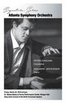 Atlanta Symphony Orchestra; Peter Oundjian, Konduktor dan Benjamin Grosvenor, Piano