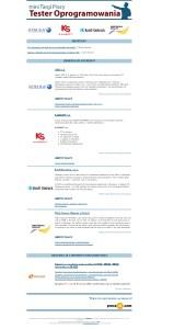 Mailing przygotowany na potrzeby Mini Targów Pracy - Tester Oprogramowania