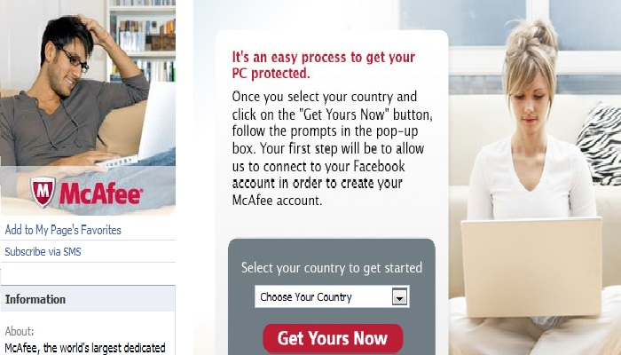 Free McAfee Antivirus Registered for Facebook Users [Download]