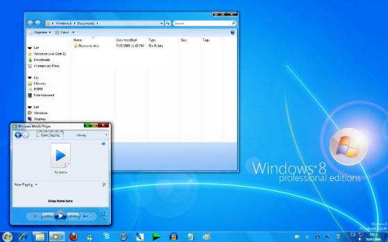 Microsoft windows 8 features and beta release details, windows 8 transformation pack and theme download