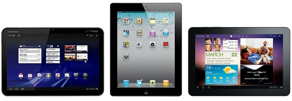 iPad 2 Vs Galaxy Tab 10.1 Vs Motorola Xoom Comparison & Review