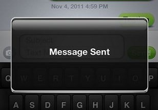 iPhone Sent Notification