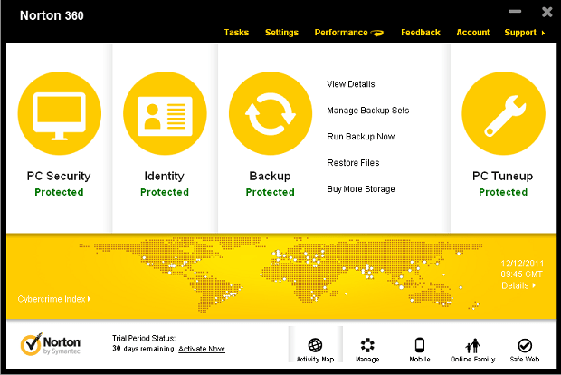 Norton 360 V6.0 Backup UI