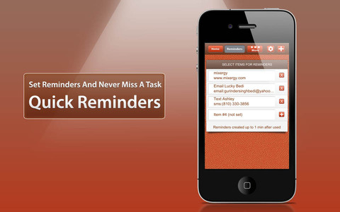 Reminders Quick Launch iPhone App