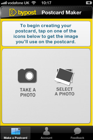 Post Card Maker iPhone App