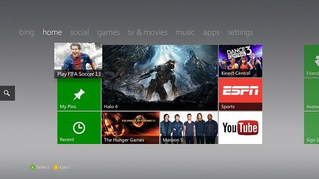 Xbox Fall Update Dashboard 2012