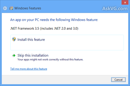 How to Install Microsoft .NET Framework 3.5 Offline in Windows 8 without Internet Connection