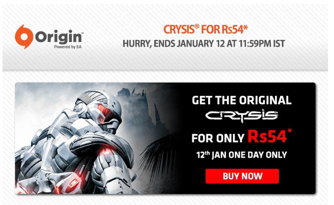 Buy Crysis PC Game At Rs.54