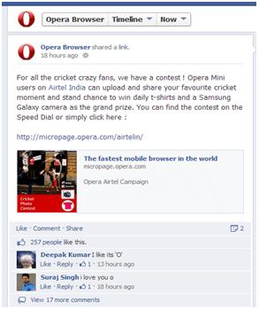 Opera Facebook Page