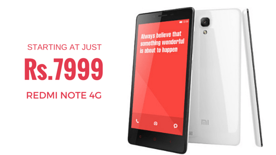 REDMI NOTE 4G - REFURBISHED INDIA