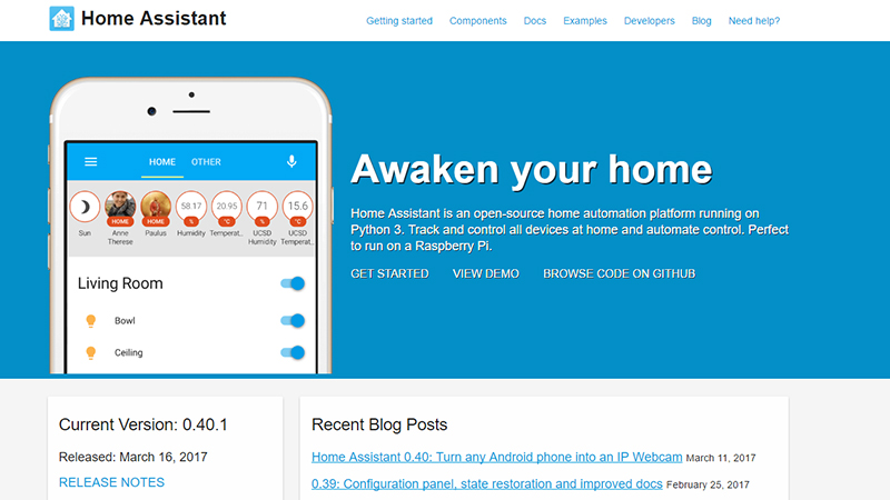 Home Assistant open source home automation