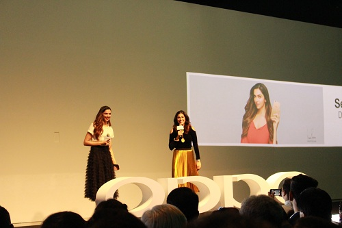 oppo f3 plus launch by deepika padukone