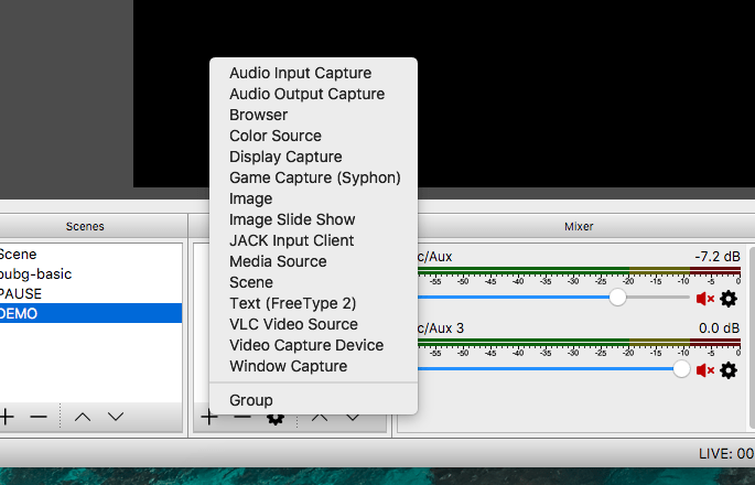 Capture Display or Window for Live Streaming Games