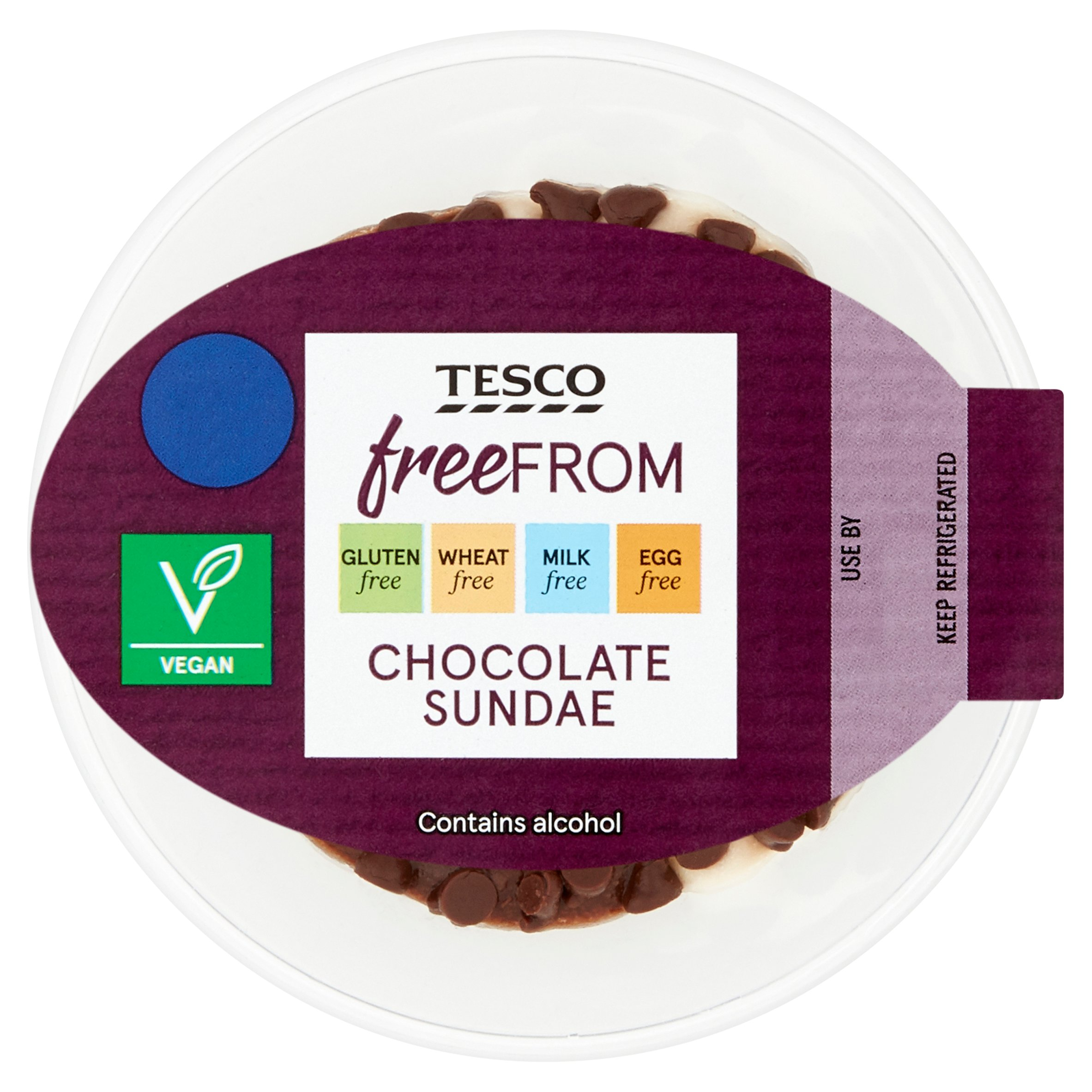 Tesco Free From Chocolate Sundae 110G
