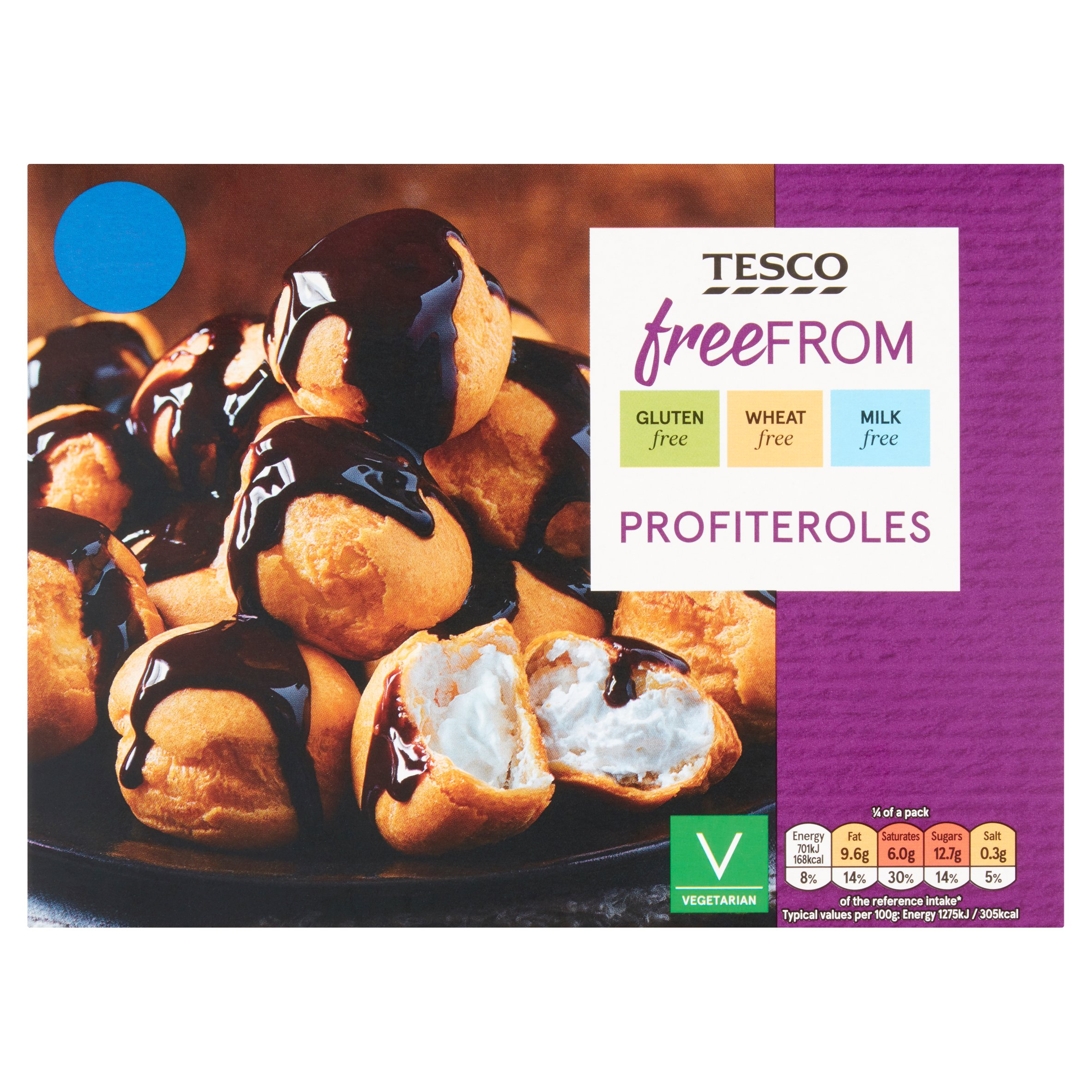 Tesco Free From Profiteroles 220G
