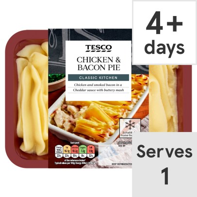 Tesco Chicken & Bacon Pie 450G