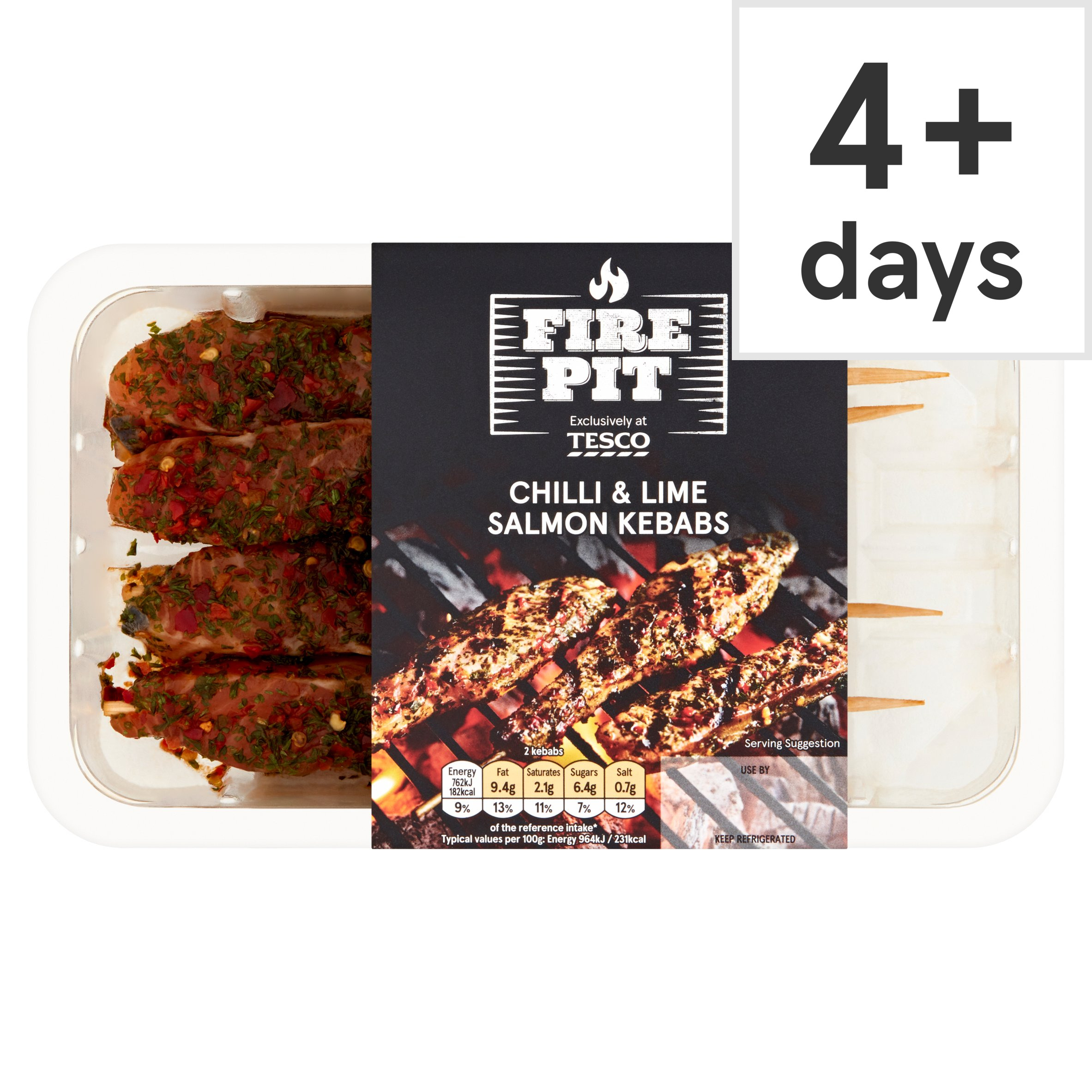 T Firepit Chilli & Lime Salmon Kebabs 177G