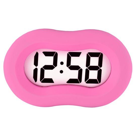 Acctim Vierra Alarm Clock Pink Tesco