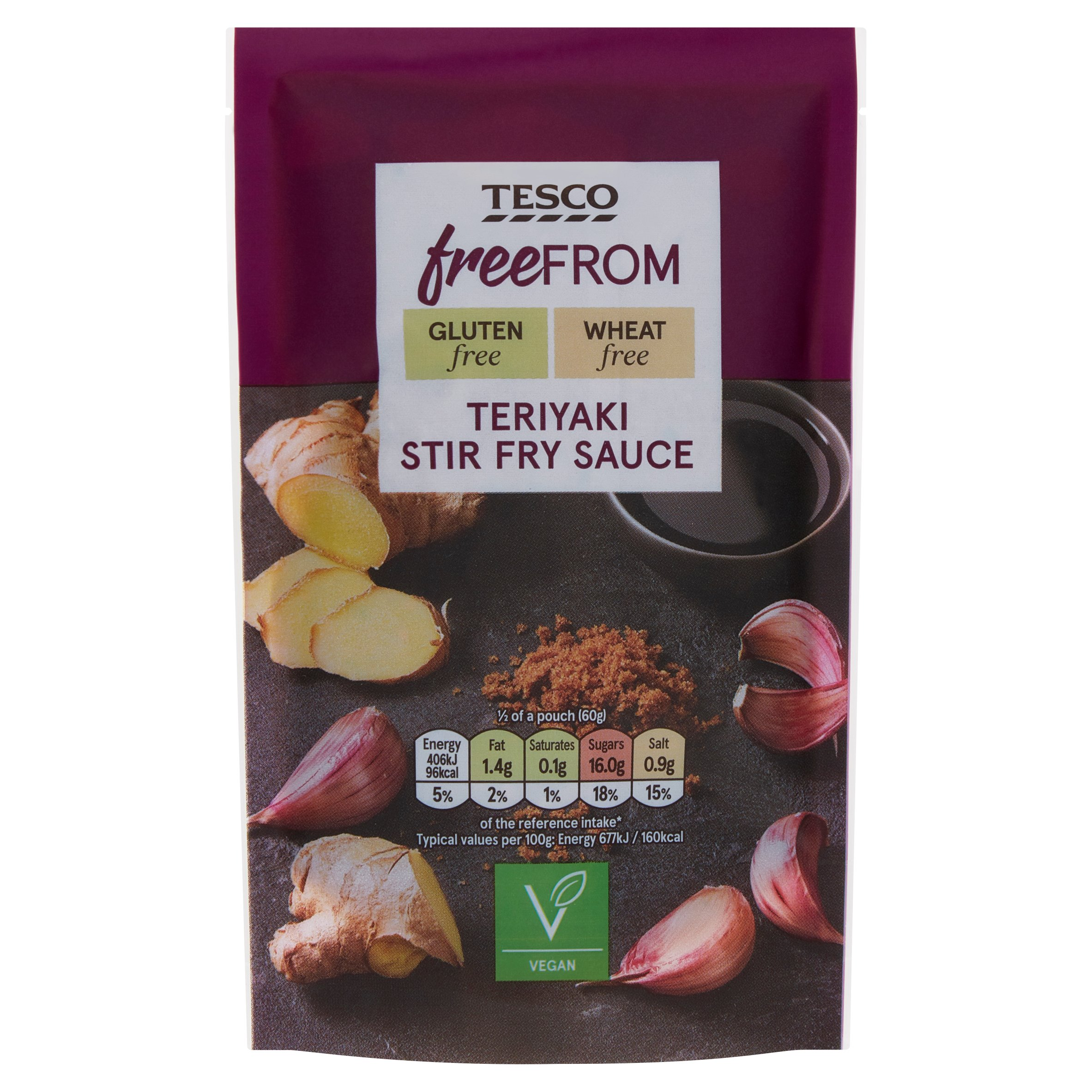 Tesco Free From Teriyaki Stir Fry Sauce 120G