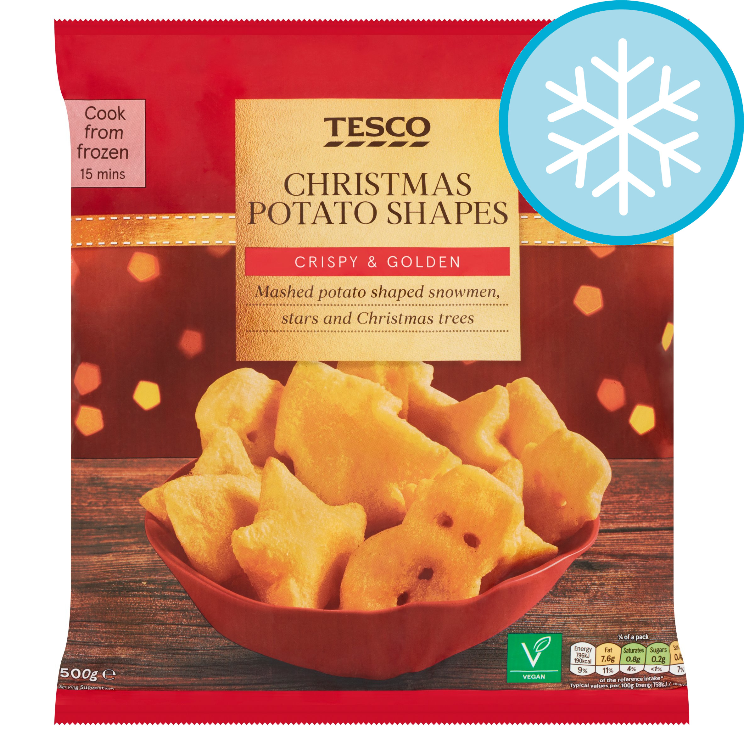Tesco Christmas Potato Shapes 500G