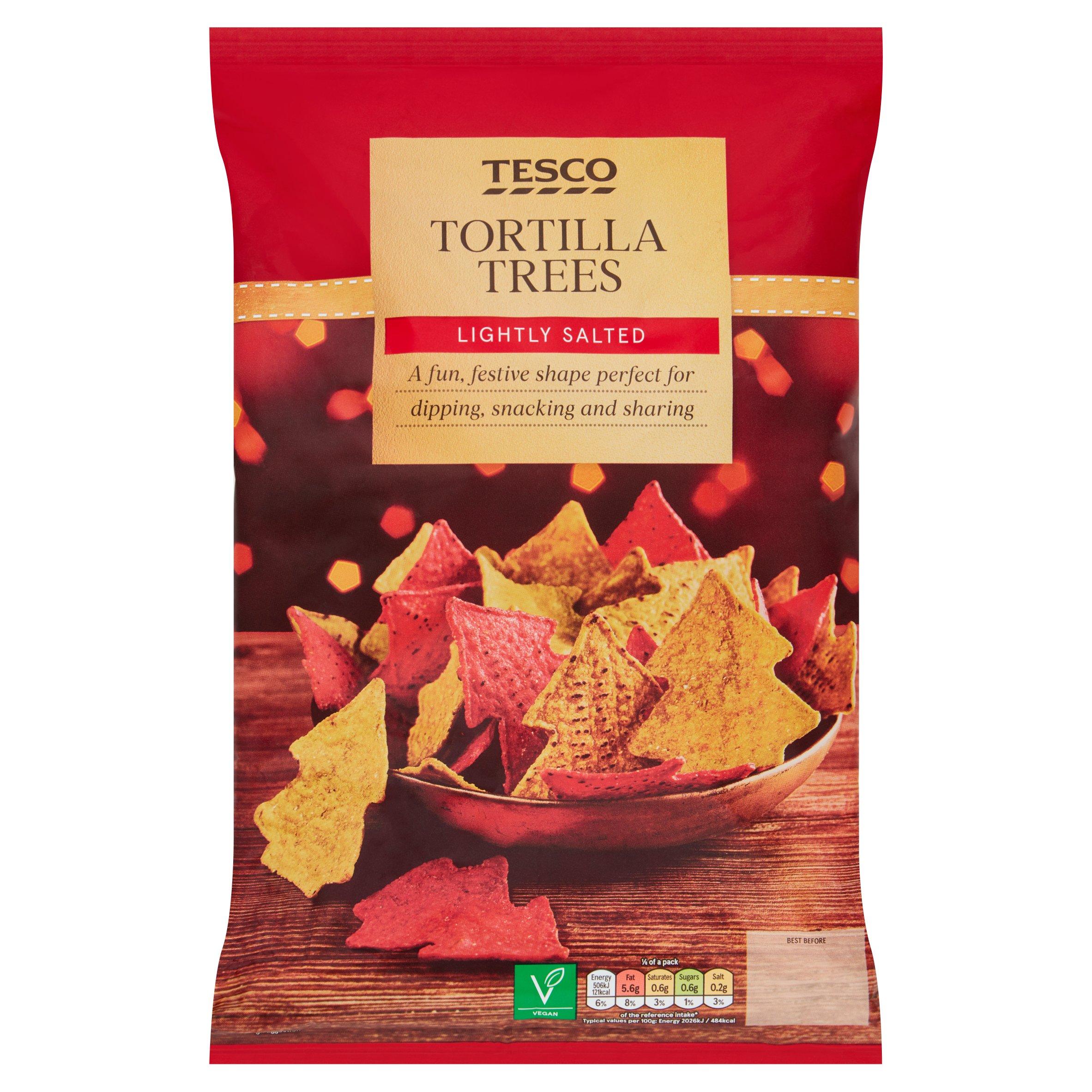 Tesco Lightly Salted Tortilla Trees 200G