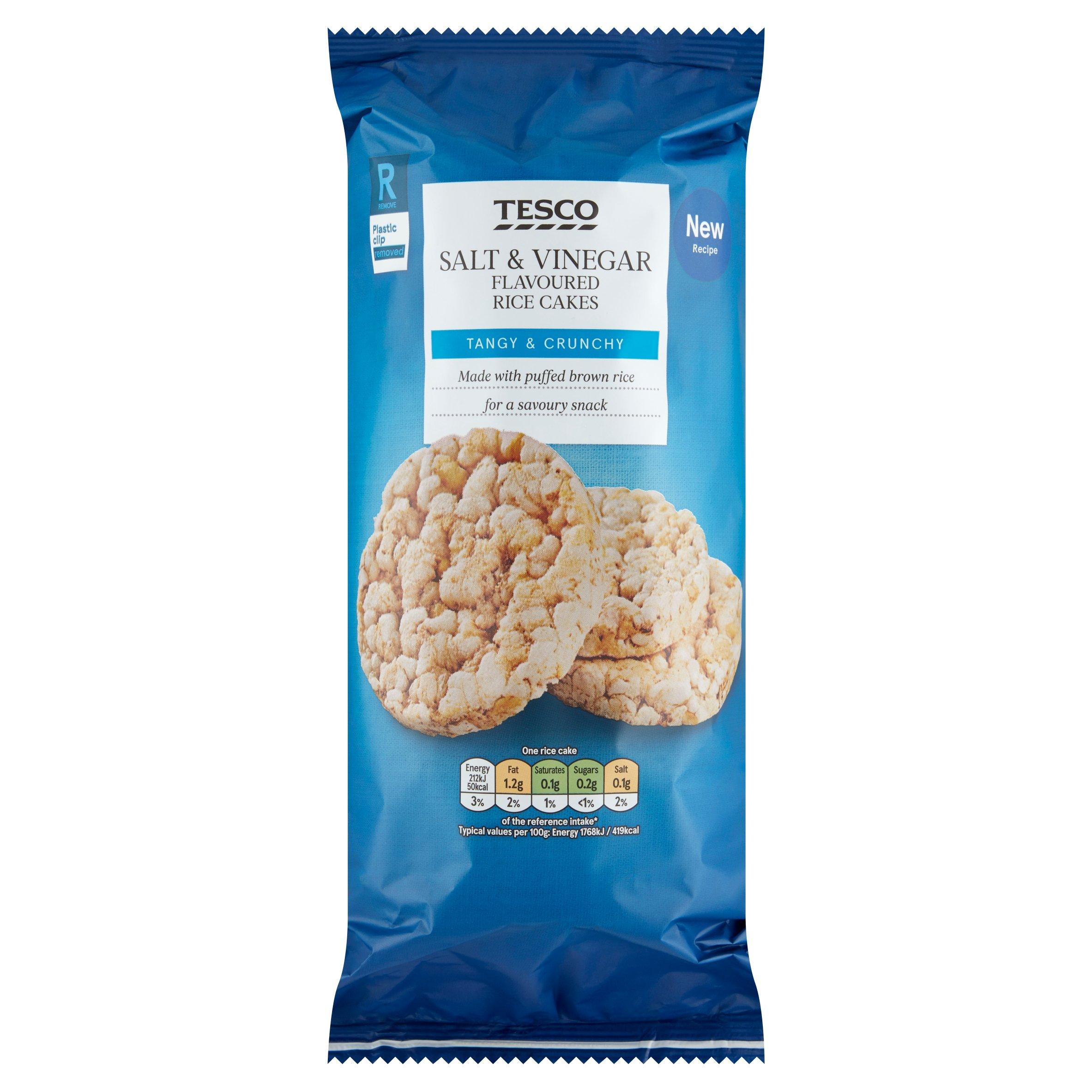 Tesco Salt & Vinegar Rice Cakes 133G