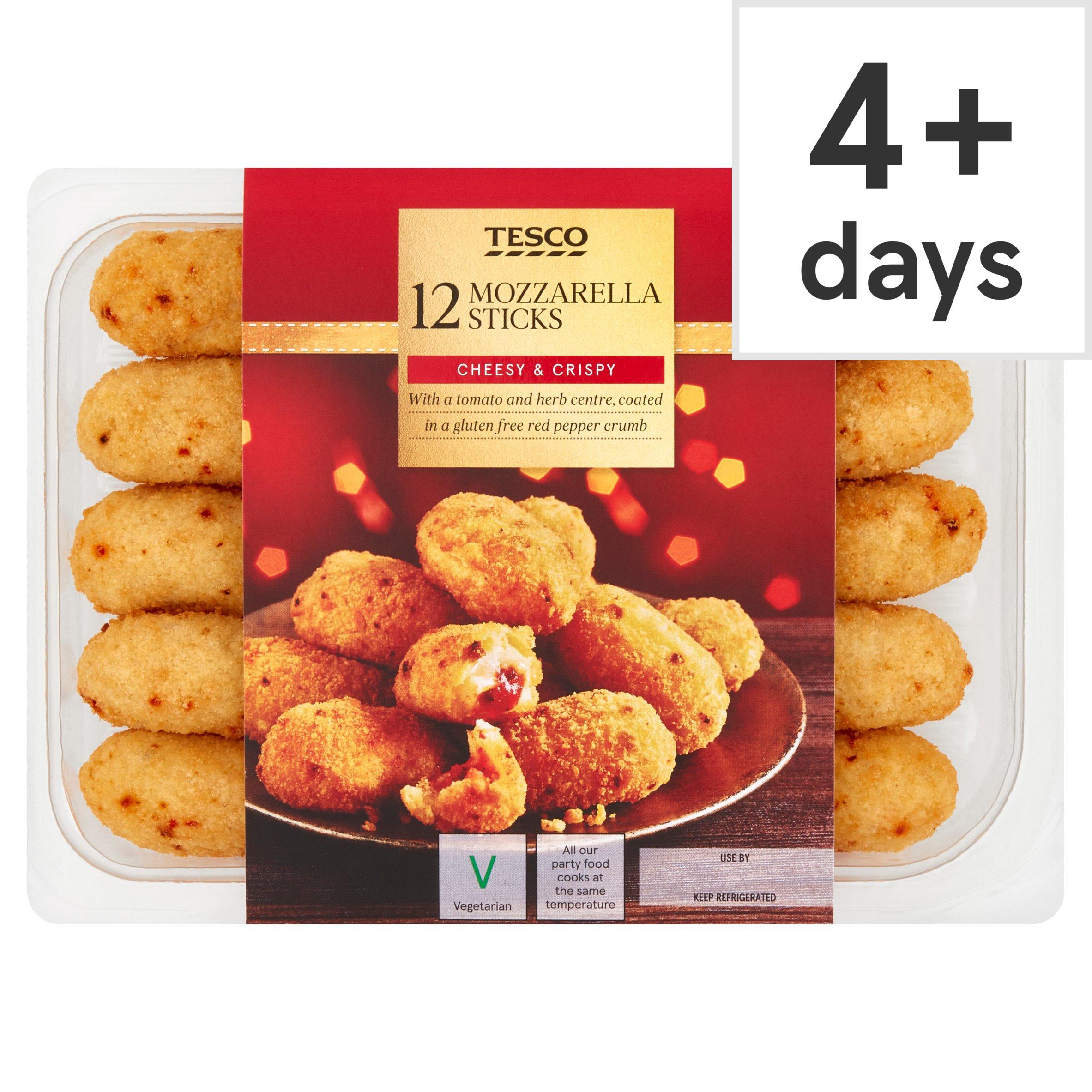 Tesco 12 Tomato & Mozzarella Sticks 240G