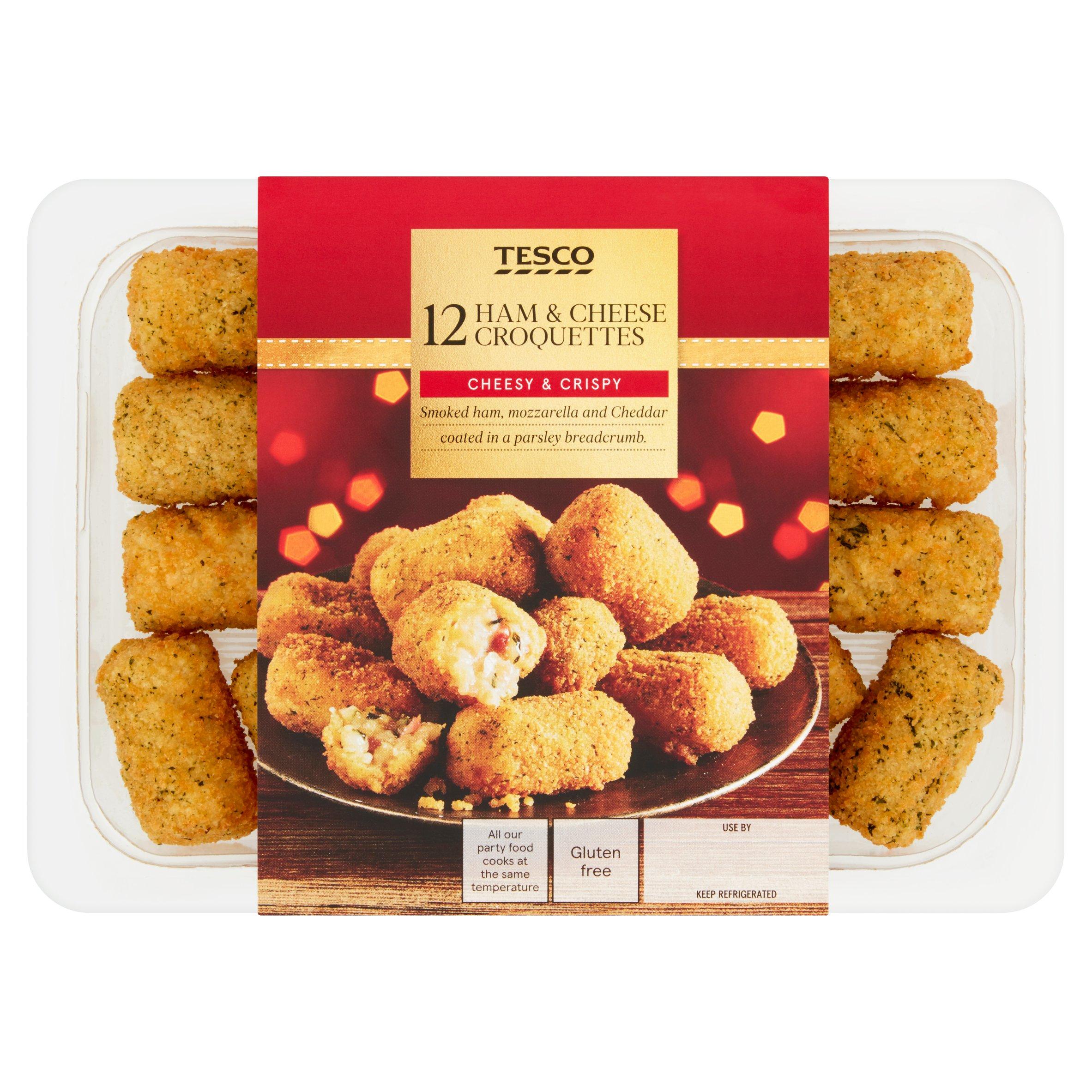 Tesco 12 Ham & Cheese Croquettes 240G