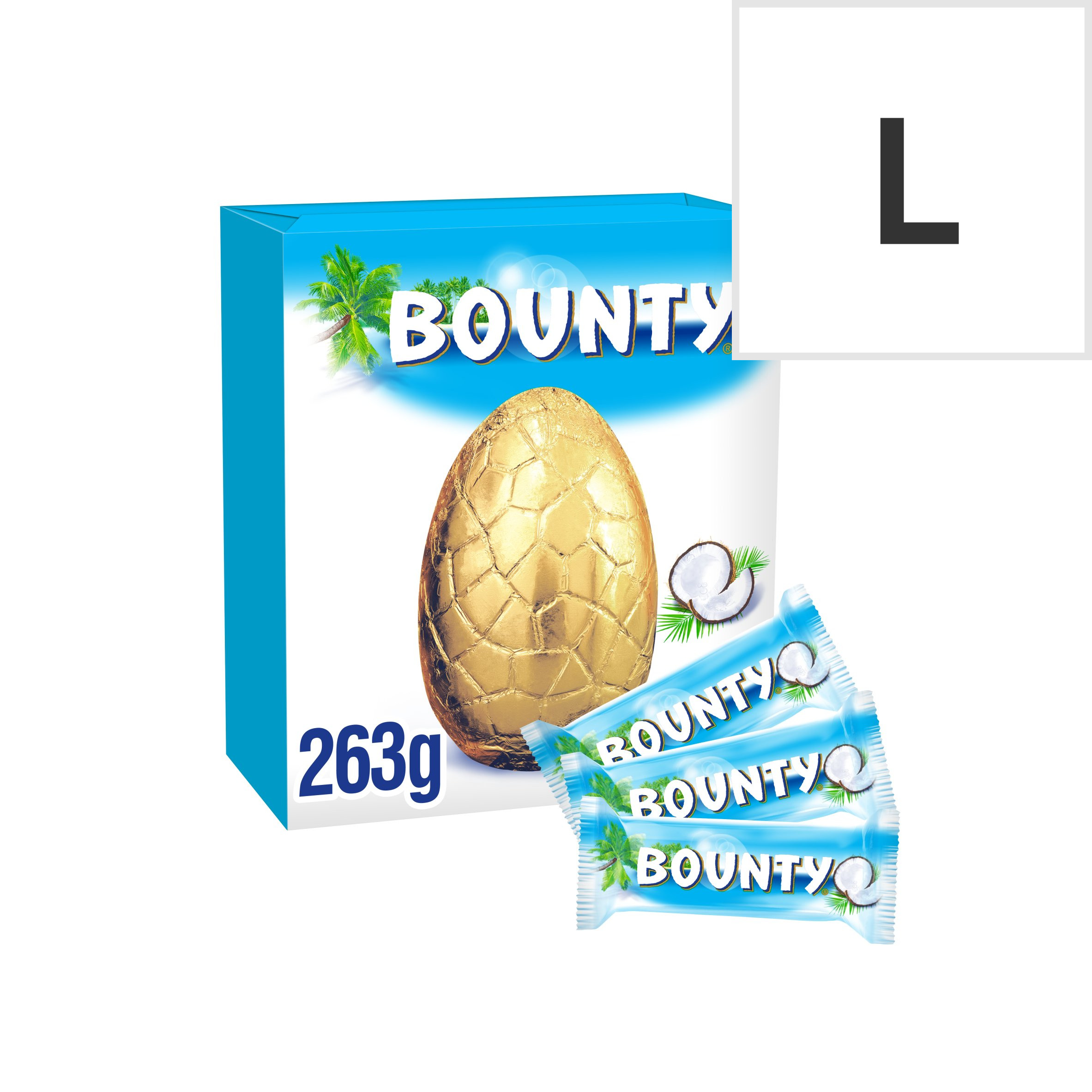Bounty Milk Chocolate Egg With 3 Fun Size Bars 263G