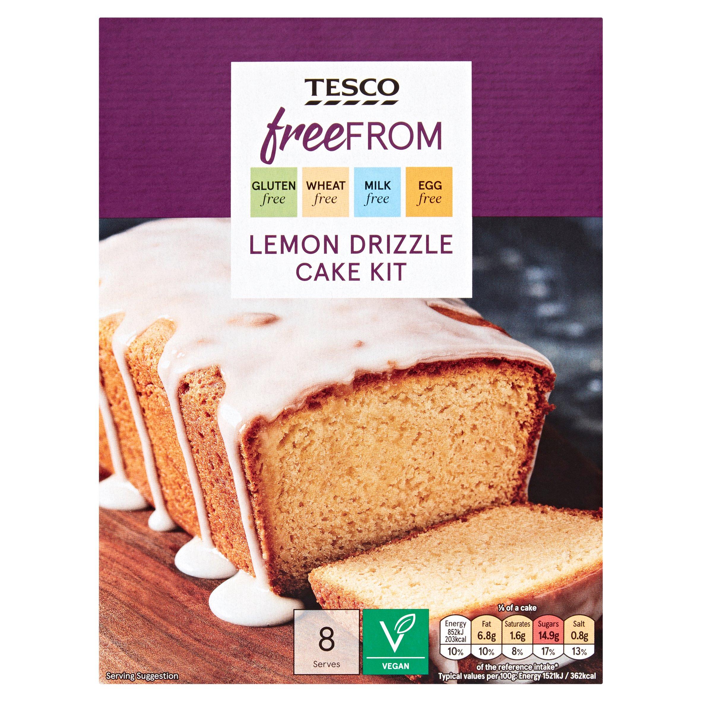 Tesco Free From Lemon Drizzle Cake Kit 300G