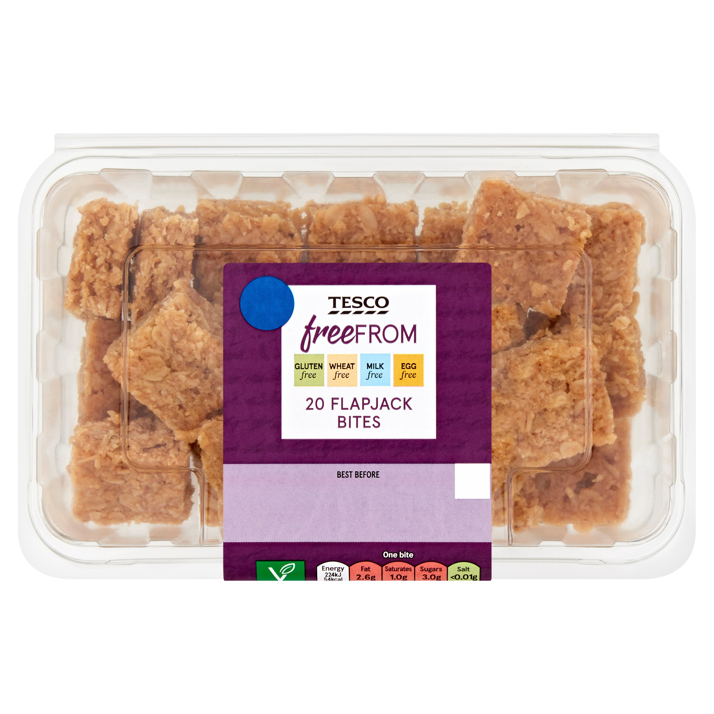 Tesco Free From Flapjack Bites 20 Pack