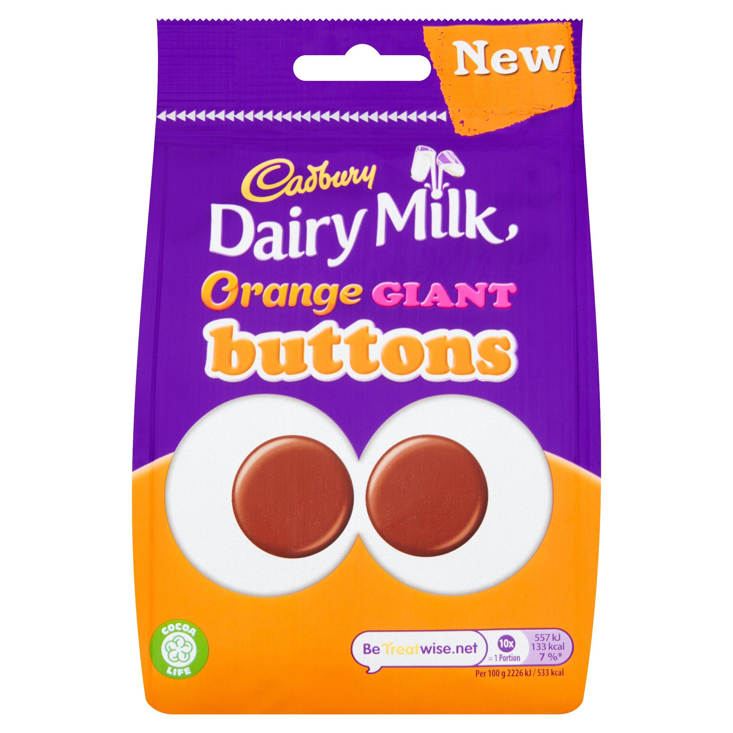 Cadbury Dairy Milk Orange Giant Buttons 110G