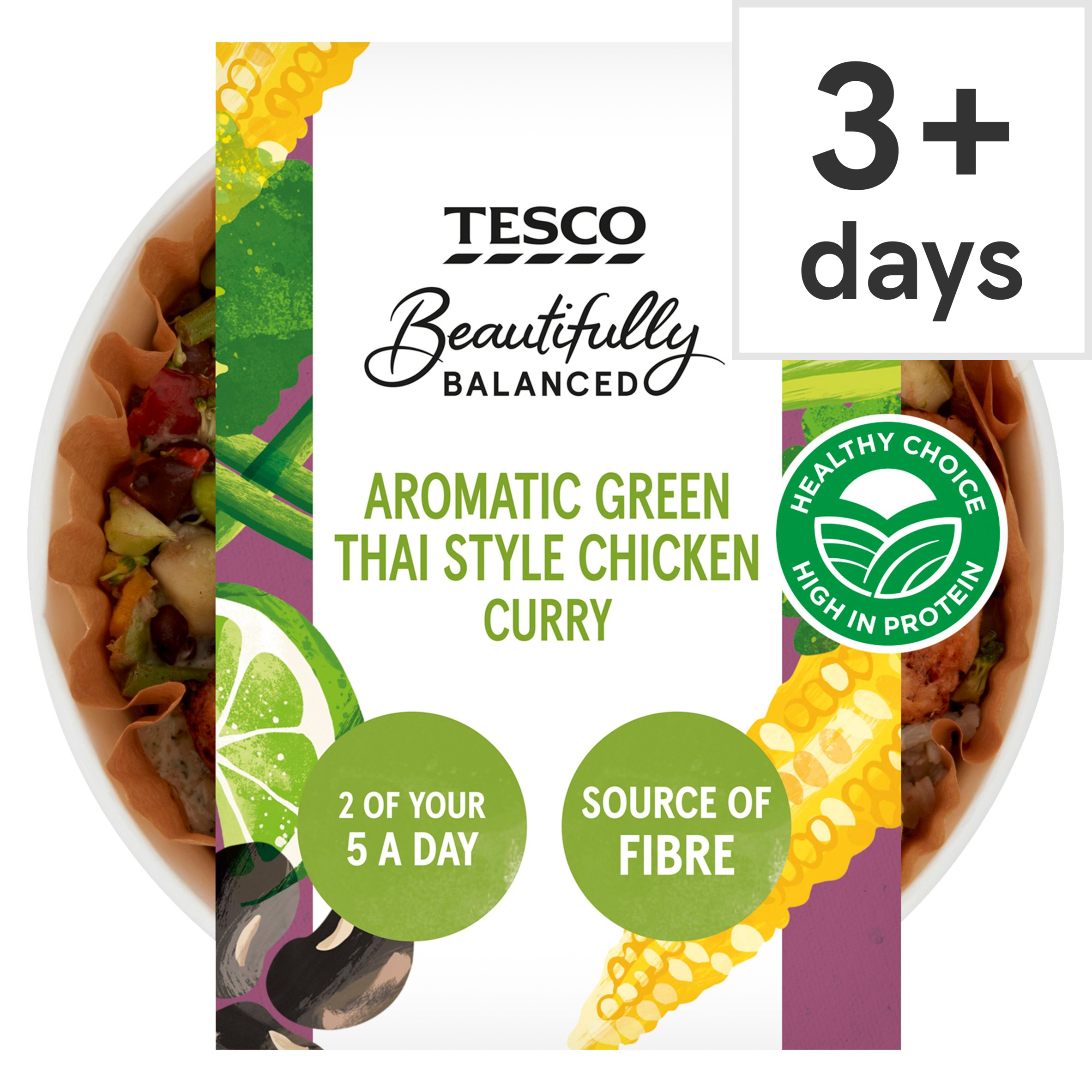 Tesco Beautifully Balanced Green Thai Chicken Curry 380G