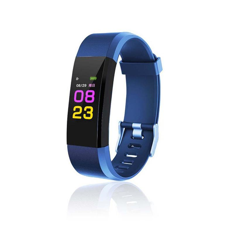 115 PLUS Smart Bracelet Sports Fitness Tracker blue